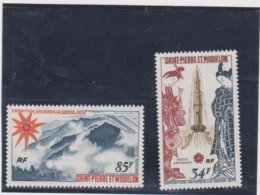SAINT PIERRE ET MIQUELON Série Complète 2 T Neufs Xx N° YT PA 48 49 - 1970 - Exposition Universelle Osaka Japon - Airmail