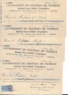 Vigneux Sur Seine: 11 Pièces  Factures  Reçu  Lotissement Chateau De Vigneux Années 20/30 - Old Paper