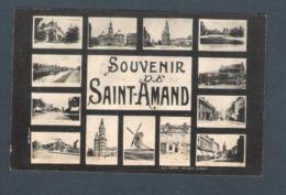 59 -   SAINT AMAND LES EAUX  - SOUVENIR De ................ (AV.ROUBAIX)   Multi Vues  CARTE VOYAGE EN 1910 - Saint Amand Les Eaux