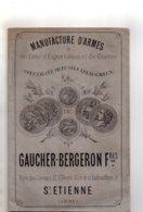 Rare Catalogue Manufacture D'armes De Luxe Gaucher-Bergeron Frères, St Etienne De 1881, Complet, 30 Pages, Militaria - Documents
