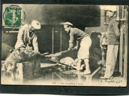CPA - MARINE - Les Bouchers à Bord - Guerra