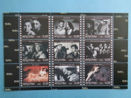 ABKHAZIA 1999 -  BLOC 9 TIMBRES - CINEMA ANNEE 1940 - Kaukasus