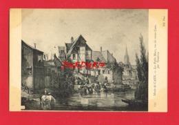 14 Calvados Musée De CAEN Les Petits Murs Vue Du Vieux Caen Par Tesnières Lavandières - Caen