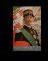 Cartolina Bianca Croce Di Savoia-  Dio Ti Salvi! E Salvi Il Re –G.Carducci - Familias Reales