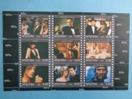 ABKHAZIA 1999 -  BLOC 9 TIMBRES - CINEMA ANNEE 1970 - Caucasia