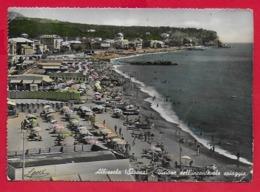 CARTOLINA VG ITALIA - ALBISSOLA (SV) - Vista Dell'incantevole Spiaggia - 10 X 15 - ANN. 1956 AMB. SAVONA TORINO - Savona