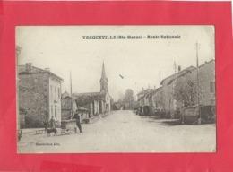 CPA - Vecqueville   -(Hte Marne ) - Route Nationale - Autres Communes