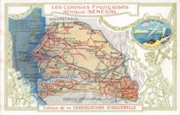 SENEGAL - Les Colonies Françaises - Carte Géographique - Sénégal