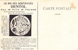 CPA PUB PUBLICITE ROI DES DENTIFRICES DENTOL Sur Une Carte De Versailles Galerie Des Glaces (78) Pour Dentiste - Werbepostkarten