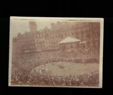 BELGIQUE MONS  LA GRAND'PLACE TRES BELLE PHOTO ORIGINALE DU DOUDOU VERS +- 1900 - Lieux