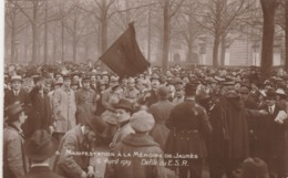 - N°6 - Manifestation à La Mémoire De JAURES, 6 Avril 1919 - Défilé Du E.S.R. - 004 - France