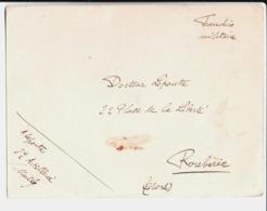 Carte Du Cercle Des Officiers Au Camp De Mailly Par A. Lepoutre 8 ème Artillerie Au Docteur Lepoutre à Roubaix. 1914. - Documents