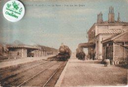 78 - Très Belle Carte Postale Ancienne De  HOUDAN   La Gare   Vue Sur Les Quais - Houdan