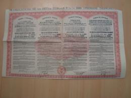 ACTION DE 500 FRANCS OBLIGATIONS DE LA DETTE TURQUE 1933 - Azioni & Titoli
