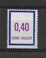 Fictif N° 238 De 1984 ** TTBE - Cote Y&T 2019 De 3 € - Phantomausgaben