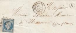 LETTRE. 16 JUIL 54. N° 14 BdF. EURE LE NEUBOURG. PC 2240.BOITE RURALE R POUR MARINER - 1849-1876: Classic Period