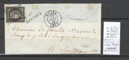 France -Yvert 3 Margé - Cad Razes + Cursive Lauriere - Haute Vienne - 06/1849 - Marcophilie (Lettres)