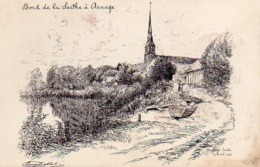 CP 72 Sarthe Arnage Bord De La Sarthe Chachoin Eugène Delâtre - Other Municipalities