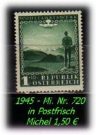 Österreich - Mi. Nr: 720 - In  Postfrisch - 1945-.... 2a Repubblica