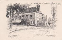 CP 72 Sarthe Arnage Hôtel Du Croissant Hippolyte Benoît Eugène Delâtre - Other Municipalities