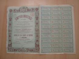ACTION DE 250 FRANCS COMPTOIR INDUSTRIEL 1889 - Shareholdings