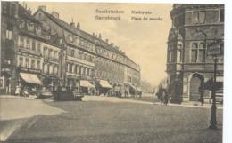 CPA  Saarbrucken Marktplatz Sarrebruck Place Du Marché - Saarbruecken