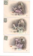 3 CPA PETITE FILLE  -  ORANGE -  Série 789 - Portraits