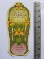 Etiquette De Parfum - Lorenzy Palanca Paris - Lotion Végétale Aux Fleurs - Etichette