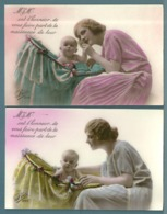 CPA - MÈRE ET ENFANT - AVIS DE NAISSANCE - 3 Cartes Différentes - Groupes D'enfants & Familles