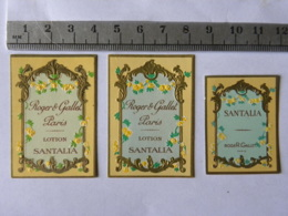 Etiquette De Parfum - 3 étiquettes Roger Et Gallet - Labels