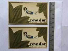 2 Cartes Parfumées - Rêve D'Or - L.T. Piver Paris - Offert Par A L'Orchidée  Peyroux Ramond, 25 Rue Jeanne D'Arc ORLEANS - Perfume Cards