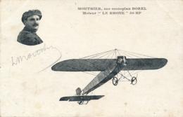 """Aviateur MOUTHIER -  Signature AUTOGRAPHE Sur CP """" Sur Monoplan BOREL Moteur """" LE RHÔNE """" 50HP """" Pionnier - Flieger"""