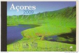 """AZORES - CARNET PRESTIGIO 2009 Con Las PRUEBAS De COLOR, SELLO Y HOJITA BLOQUE Del EUROPA-CEPT 2009 """"ASTRONOMIA"""" - Europa-CEPT"""