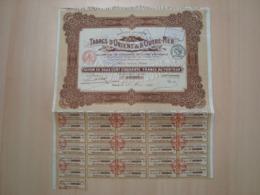 ACTION DE 250 FRANCS TABACS D'ORIENT & D'OUTRE-MER 1920 - Acciones & Títulos