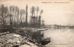 CP 72 Sarthe Arnage Rives De La En Hiver Bouveret - Other Municipalities