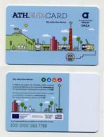 Athena Card 2019 - Athens Athènes - Greece Grèce Griechenland - Metro Subway Bus Tramway Trolley - Billetes De Transporte
