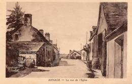 CP 72 Sarthe Arnage Rue De L'église Maurice Ribaud - Other Municipalities