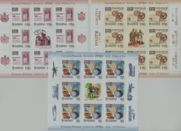 ROMANIA 2019 -  EFIRO 2019  -Romanian Philatelic Exhibition - Set 3 M/S With 8 Stamps,labels And Tabs   MNH** - Esposizioni Filateliche