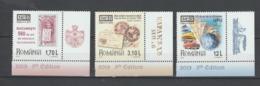 ROMANIA  2019   EFIRO 2019 - Romanian Philatelic Exhibition - Set 3 Val  With Tabs  MNH** - Philatelic Exhibitions
