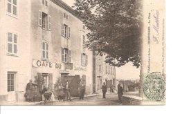 RHONE VILLEFRANCHE SUR SAONE CHERVINGUES LA PLACE ANIMEE ECRITE - Villefranche-sur-Saone