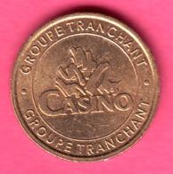 JETON DE JEUX  GROUPE TRANCHANT CASINO DE POUGUES LES EAUX NIEVRE VALEUR 1  DIAM 23 CUPRO-NICKEL - Casino