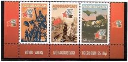 Azerbaijan 2010 . Victory In WW II - 65th Ann. Strip Of 3v:10,20,60. Michel # 799-01 - Azerbaiján