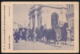 PORTUGAL  - O CARRO DE EL REI D.CARLOS DEPOIS DA PARTIDA - Lisboa