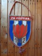 YUGOSLAVIA / KOSOVO - FOOTBALL CLUB FK PRISTINA PENNANT , FLAG - KF PRISHTINA - Apparel, Souvenirs & Other