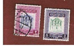 GIORDANIA (JORDAN) -   SG 447.449 - 1954   EL-DEIR TEMPLE, PETRA       - USED ° - Giordania