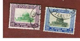 GIORDANIA (JORDAN) -   SG 450.453 - 1954   DOME OF THE ROCK, JERUSALEM       - USED ° - Giordania