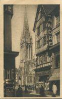 N°77225 -cpa Caen -le Clocher De Saint Pierre-rue Saint Jean- - Caen
