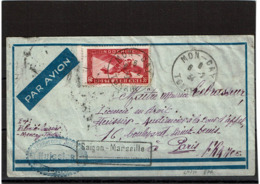 LCTN57/2 - INDOCHINE LETTRE MON-CAY TONKIN 6/2/1934 - Indochina (1889-1945)
