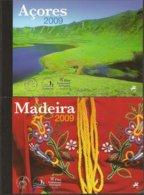 """AZORES + MADEIRA -CARNETS PRESTIGIO 2009 Con PRUEBAS COLOR, SELLOS Y HOJITAS  BLOQUE Del EUROPA-CEPT 2009 """"ASTRONOMIA"""" - Europa-CEPT"""