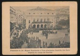 PORTUGAL  - FUNERAES DO DR.MIGUEL BOMBARDA E VICE ALMIRANTE CANDIDO DOS REIS ASPECTO DO LARGO DE CAMOES - Lisboa